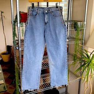 Brand New Never Worn Chain Laced Jeans
